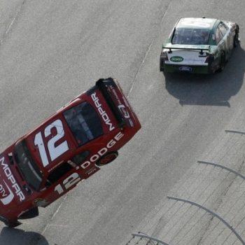 Carl Edwards Flips Brad Keselowski (NASCAR Cup Series)