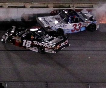 Kyle Busch Wrecks Ron Hornaday (NASCAR Truck Series)