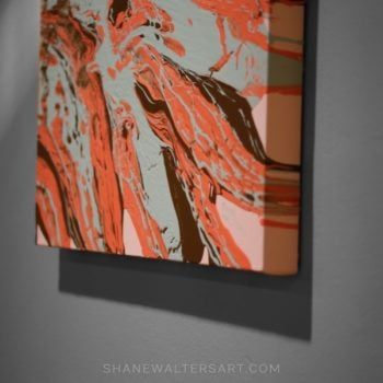 Shane Walters Orange Teal Painting
