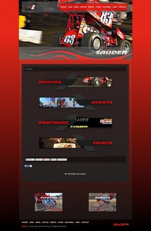 Kyle Sauder Racing Sprint Car Racing Team Website ( Walters Web Design )