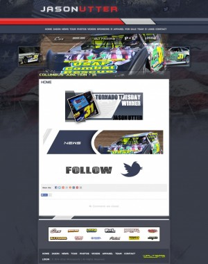 Utter Motorsports Dirt Late Model Web Design ( Walters Web Design )