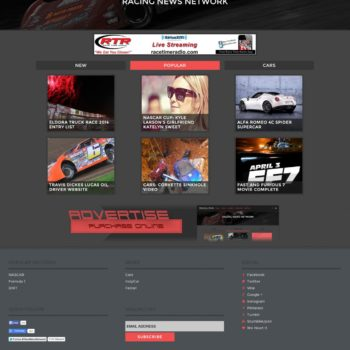 Racing News Website Design - Walters Web Design 2014