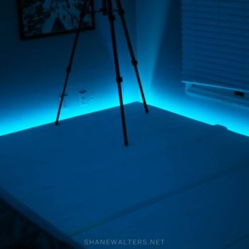Bed In Floor Contemporary Bedroom Project Photos 9804 Light Blue LED Lights
