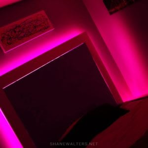 Bed In Floor Contemporary Bedroom Project Photos 9855 Pink LED Lighting
