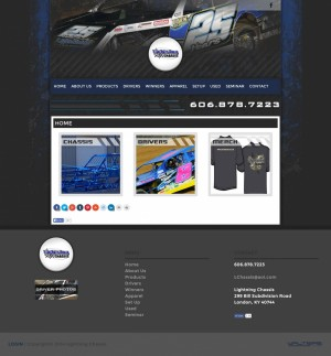 Lightning Chassis Builders Website Design - Walters Web Design