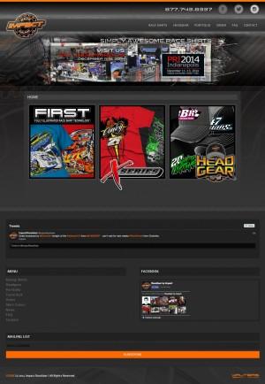 Impact Race Gear Website Design - Walters Web Design