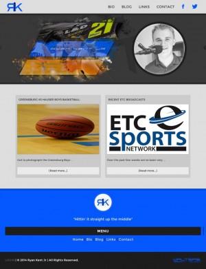 Ryan Kent Jr Sports Broadcaster Website Design- Walters Web Design
