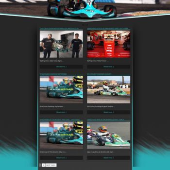Jake Craig American Karting Driver Website Design