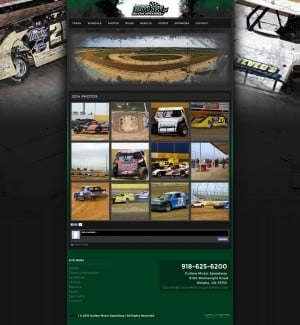 Outlaw Motor Speedway Dirt Track Racing Website Design - Walters Web Design