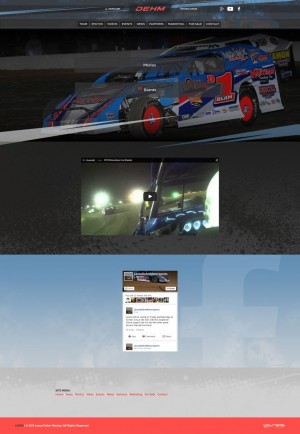 2015 Lance Dehm Racing Dirt Modified Driver Website Design - Walters Web Design