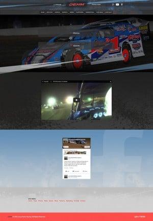 2015 Lance Dehm Racing Dirt Modified Driver Website Design - Walters Web Design