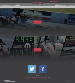 2015 Nicoletti Motorsports Drag Racing Driver Website Design - Walters Web Design
