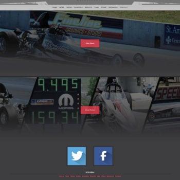 2015 Nicoletti Motorsports Drag Racing Driver Website Design - Walters Web Design