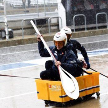 Sauber Row Boat USGP COTA Rain Delay