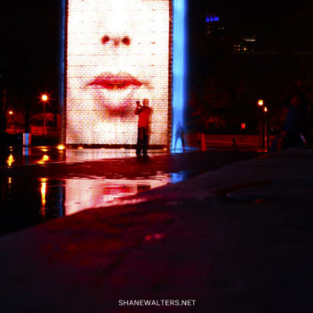 Chicago Crown Fountain At Night Photos 0810