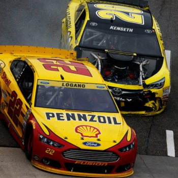 Matt Kenseth vs Joey Logano Wreck At Martinsville Speedway