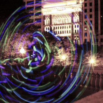 Millennium Park Light Painting 0822