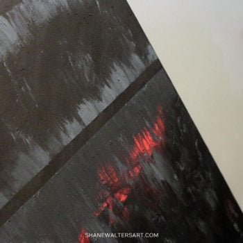 Shane Walters Art Matte Black Painting 3642