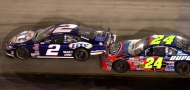 Jeff Gordon bumps Rusty Wallace at Bristol