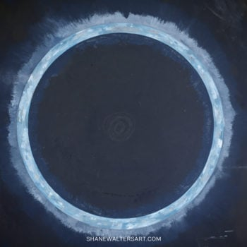 Shane Walters Art Planet Eclipse Painting 4103